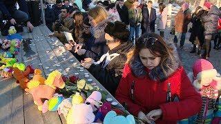 Волгоградцы скорбят по жертвам пожара в Кемерово