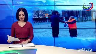 Уборщиц городских улиц поздравила администрация Кировского района Махачкалы
