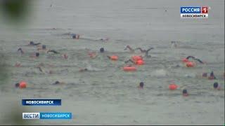 166 новосибирцев переплыли Обь под проливным дождем