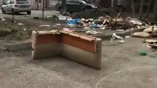 Погром во дворе на улице Мира