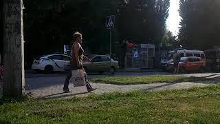ДТП на перекрестке улиц Механизаторской и Гв. Широнинцев_видео ГородХ_16_08