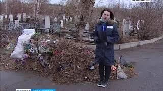 Красноярцы в Родительский день массово отправились на кладбища