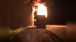 Автобус с туристами из Хабаровска сгорел в Приморье август 2018