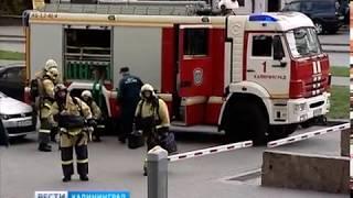 Пожарные и спасатели учились тушить самое высокое в Калининграде здание