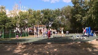 В Пензе около школы №56 открыли обновленную детскую площадку