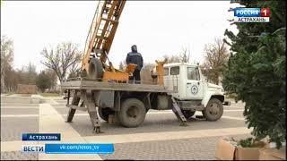 Муниципальные власти начали готовить Астрахань к Новому году