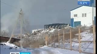 Крупный пожар произошёл на очистных в Иркутске