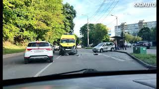 ДТП с машиной скорой помощи на Литовском валу в Калининграде. 21.08.18