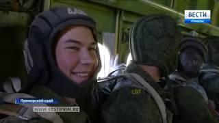 Суворовцы в ВВО впервые прыгнули с парашютом