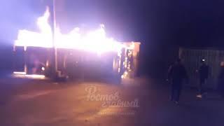 Пожар на Грисенко 23а горит туалет на рынке 3.4.2018 Ростов-на-Дону Главный