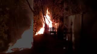 Пожар на ул. Ставропольской,27 в Пензе