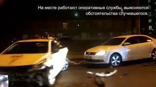 Сразу две машины Яндекс.Такси стали участниками крупного дтп