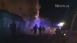 Пожар в гаражном обществе «Нива»