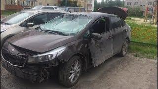 В Когалыме взорвался автомобиль