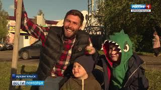 В Архангельске, на аллее спортивной славы высадили 15 молодых кедров