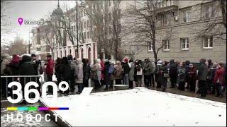 Гигантская очередь вновь появилась у Третьяковки