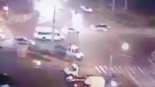 Авария на перекрёстке в Ставрополе