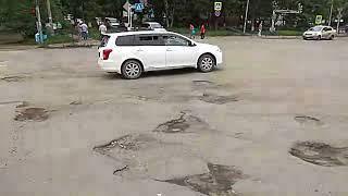 Жители Партизанска жалуются на состояние городских дорог. 6