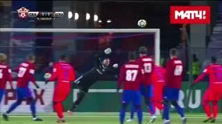сейв Александра Довбни в матче с ЦСКА
