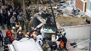 В Стамбуле упал военный вертолёт