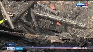 В Пензе в один день сгорели сараи и комната в общежитии