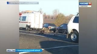 Северный обход Ставрополя встал в огромной пробке из-за ДТП