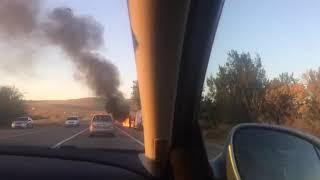 На ставропольской трассе сгорела вторая за сутки машина