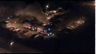 Ночью в Ярославле сгорел автомобиль