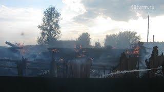 Крупный пожар в селе Барашево