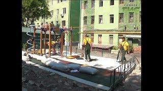 В Самарском районе ремонтируют одновременно 4 двора