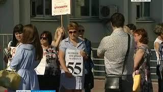 Больше 50 красноярцев вышли пикет против автобусной реформы