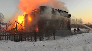МП Отец вынес из огня 10 летнюю дочь д  Ворсино  Место происшествия 12 03 2018 #4