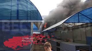 На городском рынке в Вологде произошел крупный пожар