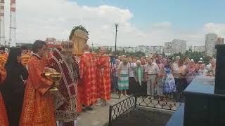 Освящение поклонного креста в память о святых Царственный страстотерпцах в Ростове