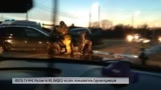 В Ярославском районе столкнулись две иномарки