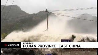 "Тайфун ""Мария"" пришел в Китай"