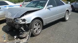 Автомобиль превратился в груду металла в ДТП с двумя пострадавшими на Выселковой