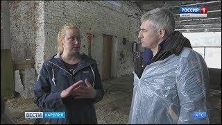 Глава Карелии посетил семейную ферму Ирины Фигуровой