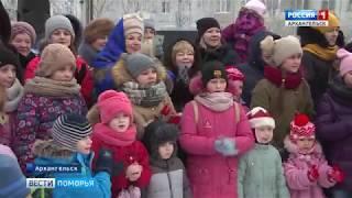 В Архангельске Масленицу провели в 7 дворах Ломоносовского округа и Майской горки