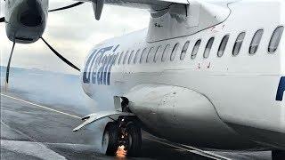 Очевидцы из Ханты-Мансийска рассказали, как загорелся самолёт в Тюмени