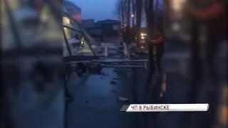В Рыбинске из-за огромного объема воды на крыше частично обрушился магазин