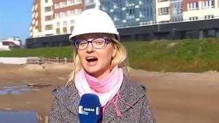 В Калининграде начали строительство пешеходного тоннеля под Высоким мостом