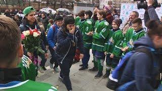 UTV. Домой с золотом. Уфимская женская хоккейная команда Агидель вернулась в Уфу чемпионами России