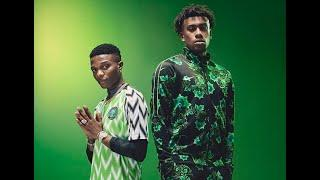 Football fans queue on London's streets for Nigeria's new Nike kit